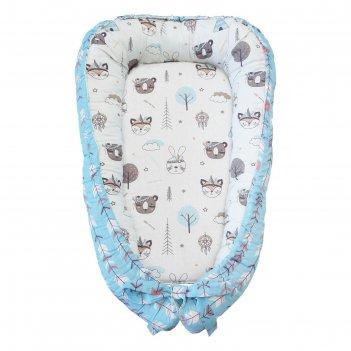 Подушка-позиционер для сна и кокон гнездышко «индейцы», размер 65x35x12 см