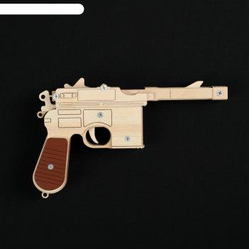 Резинкострел  пистолет маузер к96, окрашенный, автоматический