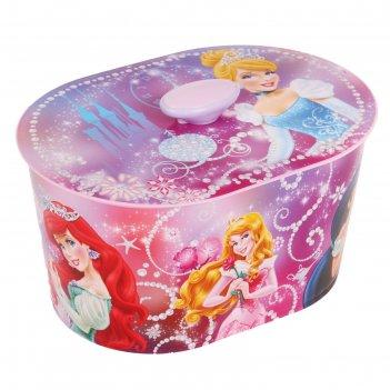 Шкатулка игрушечная принцесса-дисней№1 (люкс) овальная м3340