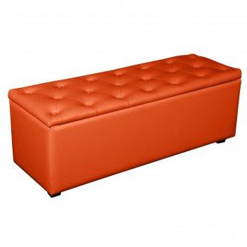 Банкетка монако-2 1210х420хн430 экокожа оранжевый