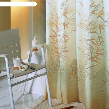 Штора для ванной canneto, 180х200 см, коричневый