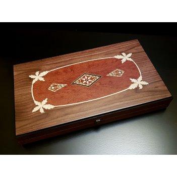 Нарды подарочные азия орех антик