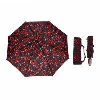 Зонт автомат, r=53см, цвет красно-чёрный