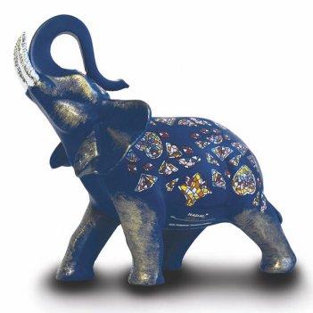 Статуэтка nadal 763410/04 синий слон (серебряные бивни)