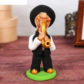 Статуэтка еврей - музыкант с саксафоном
