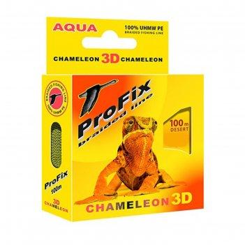 Леска плетёная aqua profix chameleon 3d desert, d=0,08 мм, 100 м, нагрузка