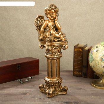 Статуэтка ангел на колонне (55см) бронза