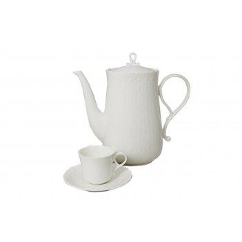 Набор: 6 чашек 0,12л + 6 блюдец для кофе шёлк