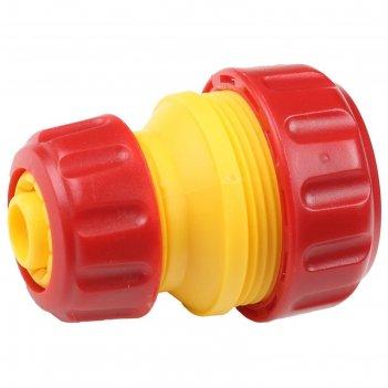 Муфта-коннектор, d=1/2-3/4 (12-19 мм), пластик, grinda
