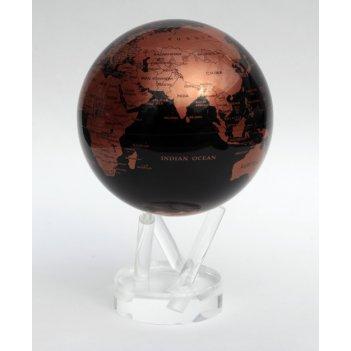 Глобус мобиле d12 см с  политической картой мира, цвет бронза