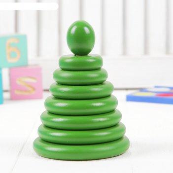 Пирамидка зелёная, 8 деталей