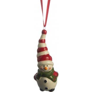 Изделие декоративное снеговик 3.7*3*8.5см без упаковки (мал=4шт./кор=384шт