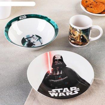 Набор посуды 3 предмета звездные войны. реальность
