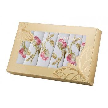 Комплект салфеток из 6 шт. роза 40*40 см. вышивка , х/б-100%