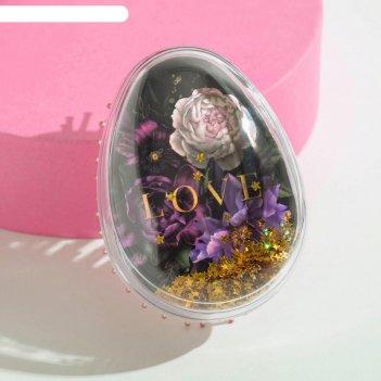 Расчёска-шейкер «любовь» 9 х 6.5 х4.5 см