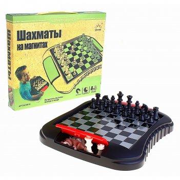 Игра настольная шахматы магнитные, в коробке