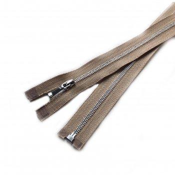 Молния для одежды, разъёмная, №1, 50 см, цвет бежевый