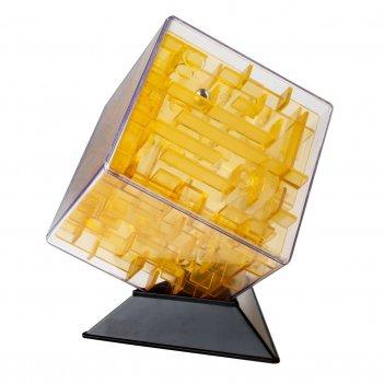 Лабиринтус куб 10см, жёлтый