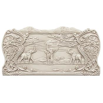Нарды резные слоны в африке патина, ustyan, 60х60см
