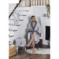 Набор adra, халат l/xl, полотенца 50х90 см, 70х140 см, по 1 шт., серый