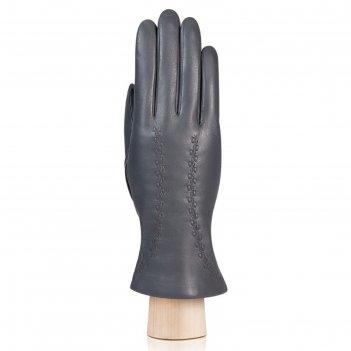 Перчатки женские, размер 7, цвет серый