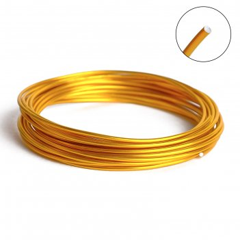 Проволока для плетения d=2мм, намотка 5м, цвет золото