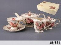 Чайный набор на 6 персон 15 пр.корейская роза 75...