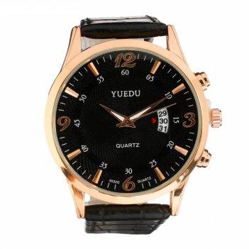 Часы наручные мужские yuedu с датой d=4.2 см, микс