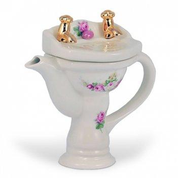 Чудо чайник фарфоровый умывальник мини ( 8,5х16х16 см)
