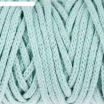 Шнур для рукоделия хлопковый софтино 100% хлопок 4 мм, 50м/140гр (мятный)