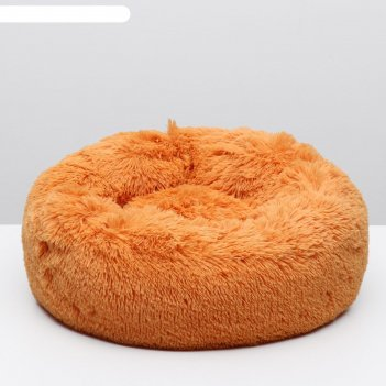 Лежанка perseiline лм-50 винчи мягкая круглая пухлая 58 х 20 см, оранжевый