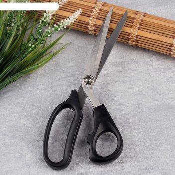 Ножницы закройные, скошенное лезвие, 23,5 см, цвет чёрный