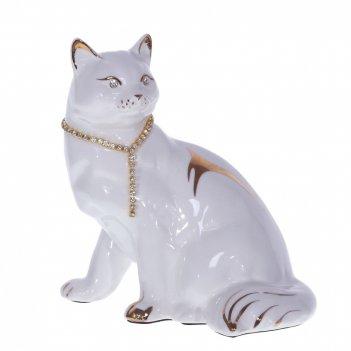 Фигурка декоративная кошка, l14 w10 h15 см