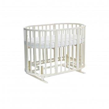 Кроватка детская everflo allure ivory 7 в 1 с маятником es-008