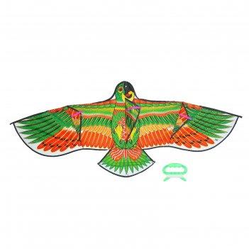 Воздушный змей попугай с леской