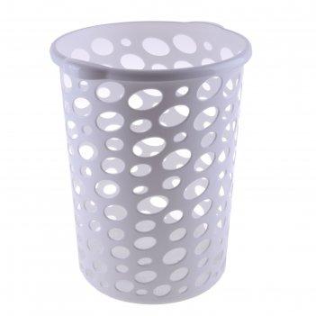 Корзина для мусора 12 л сорренто, белая
