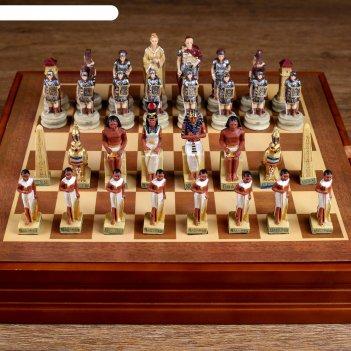 Шахматы сувенирные битва за египет (доска 36х36х6 см, король h=8 см, пешка