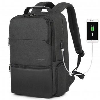 Рюкзак с usb,  для ноутбука, tigernu t-b3905l черный, 19