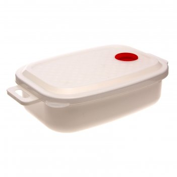 Контейнер для холодильника и свч с крышкой 1,6 л традиция, прямоугольный