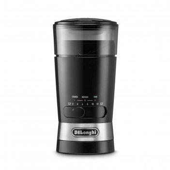 Кофемолка delonghi kg 210, 170 вт, 3 степени помола, 90 г, чёрная