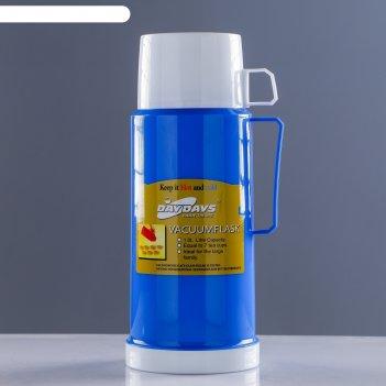 Термос классик с 1 кружкой+1 чашка,  1 л, 13х29 см, микс