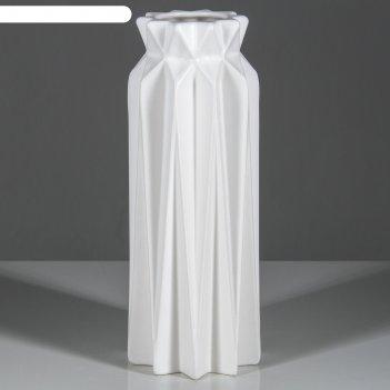 Ваза настольная оригами, геометрия, белая, 26 см