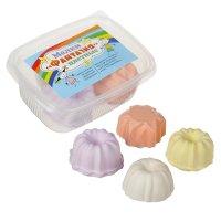 Мелки цветные 4 шт. 4 цвета «фантазия» в форме кекса, пластиковый контейне