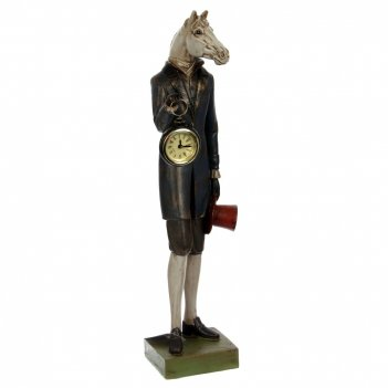 Фигура декоративная лошадь с часами, l13 w13,5 h48 см, 2в.