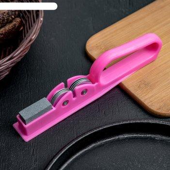 Точилка для ножей острое лезвие, с ручкой и шлифовкой