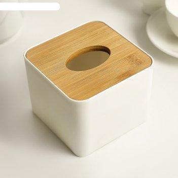 Салфетница мягкость 11*8,5 см, бамбук