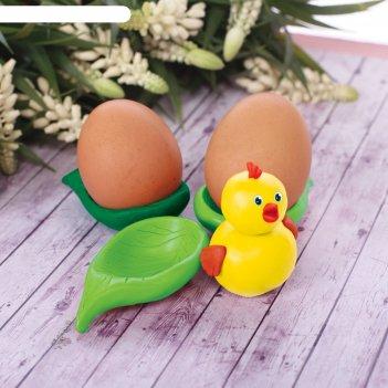 Подставка для яиц из массы для лепки цыплёнок