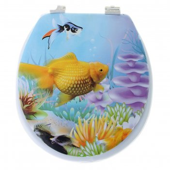 Сиденье для унитаза мягкое морская фауна