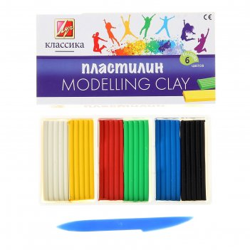 Пластилин 6 цветов классика (детство)