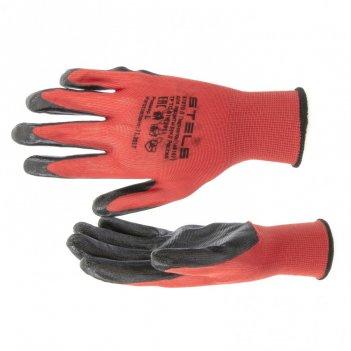 Перчатки полиэфирные с черным нитрильным покрытием маслобензостойкие, l, 1